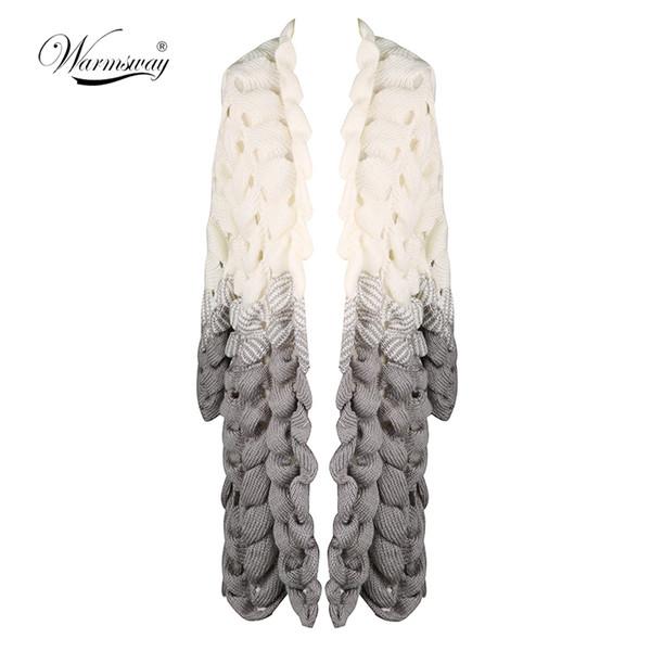 Güz Kış Yeni moda Kadınlar degrade renk kazak uzun kollu orta uzunlukta hırka rahat gevşek kazak Bayanlar coat C-243