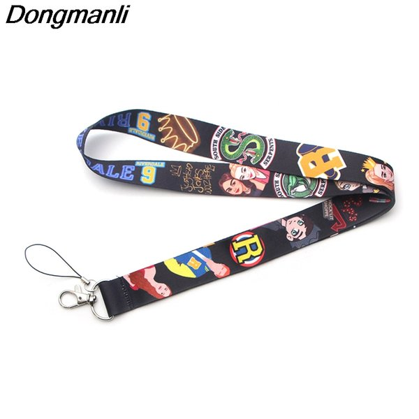 Dongmanli Riverdale Southside Serpents Keychain Cool Phone Lanyard Fashion Strap Neck Lanyards for ID Card Phone Keys M2638