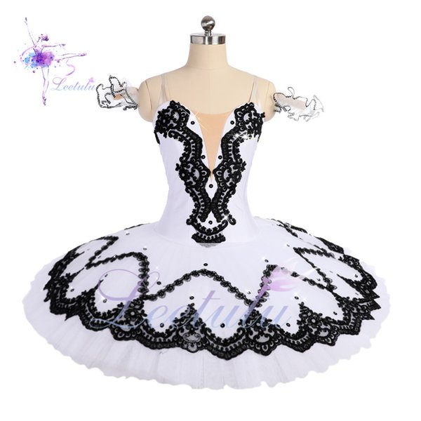 Hot Sale Women White Black Professional Ballet Tutus Ballet Stage Classical Ballet Tutu For Girls Pancake Tutu