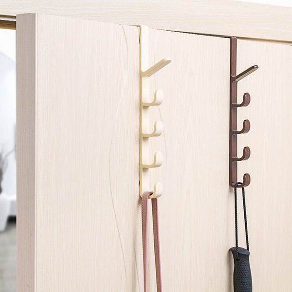 Porte Hanger Crochet Vêtements Porte-Stockage En Plastique Hanging Rack Accueil Organisateur Crochets Rails Chambre Dress Sac Suspendu Crochets