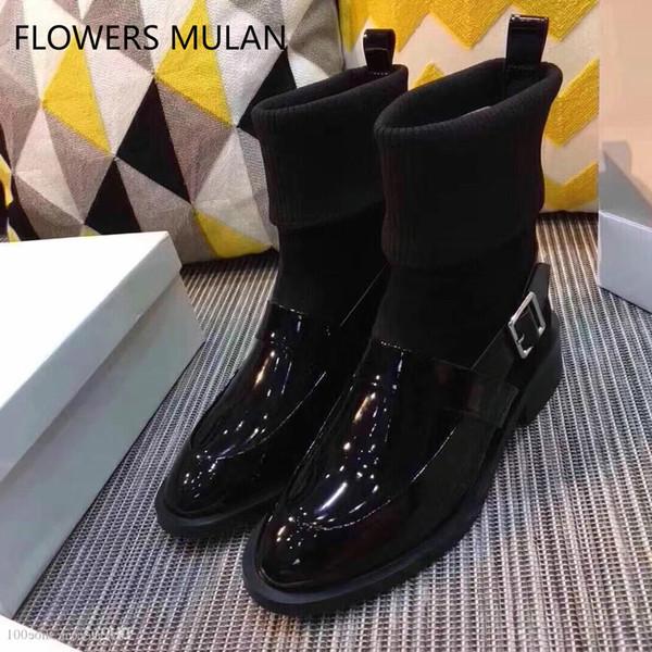 2018 bottes en cuir véritable haut-décontracté chaussures de designer chaussures pantoufles sandales pantoufles chaussures de mariage chaussures gratuites