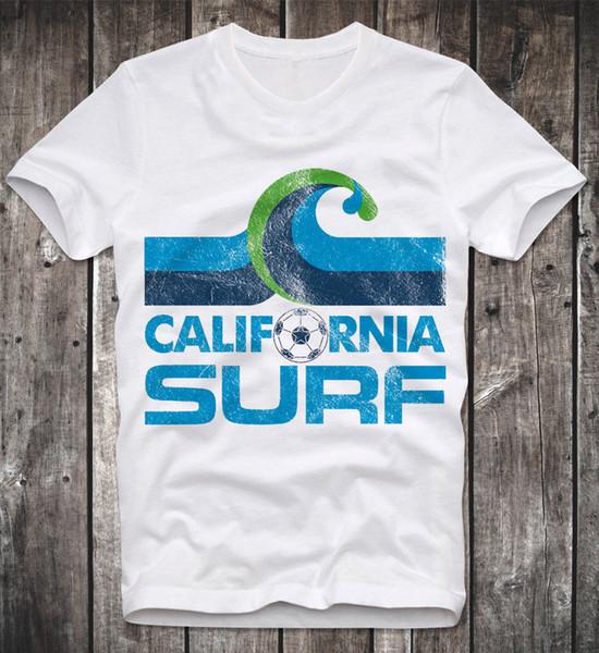 T Shirt California Surf Team Retro Vintage Soccer Fussball Football White Weiss Men S Clothing T Shirts Tees Men Hot Create T Shirt Movie T Shirts From