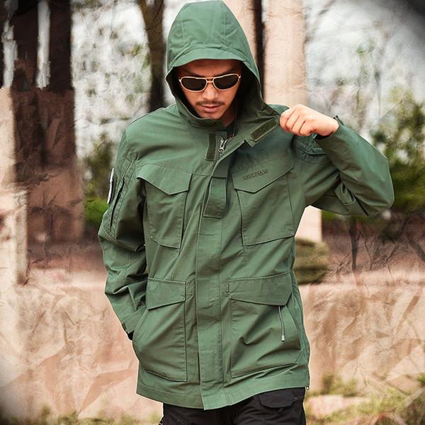 Patchwork Mege Marque M65 Militaire Camouflage Vêtement Homme Armée Américaine Tactique Coupe-Vent À Capuche Veste Sur Le Terrain Outwear Casaco Masculino