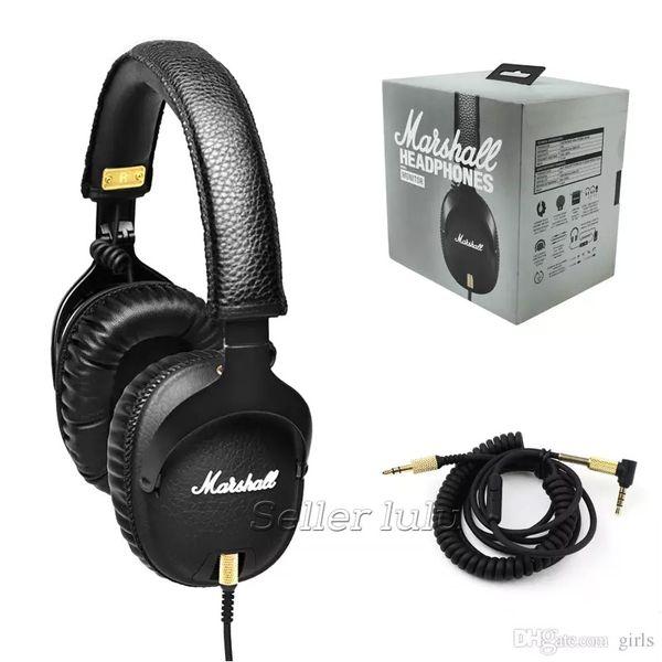 Marshall MONITOR Auriculares con Micrófono Bass Profundo Marshall DJ Auriculares Hi-Fi Auriculares HiFi Auriculares Profesionales DJ Monitor