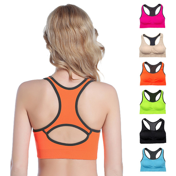 top popular Women Bras Ladies Bras Professional Shock-proof Yoga Running Fitness Sports Bra Backless Hollow Breathable Push Up Sleep Underwear 55 2019