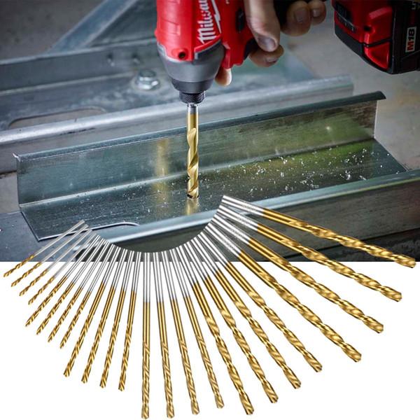 60pcs /Set 1mm-3.5mm Titanium Coated High Speed Steel Drill Bit Manual Twist Drill Bits Straight Shank Drill Repair Parts Tool