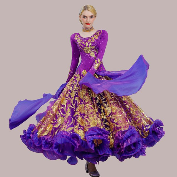 13966b5bbc0 LUXURY Ballroom Dance Competition Dresses Standard Dance Dresses Ballroom  Waltz Dress D0459 Long Sleeve 8 Colors
