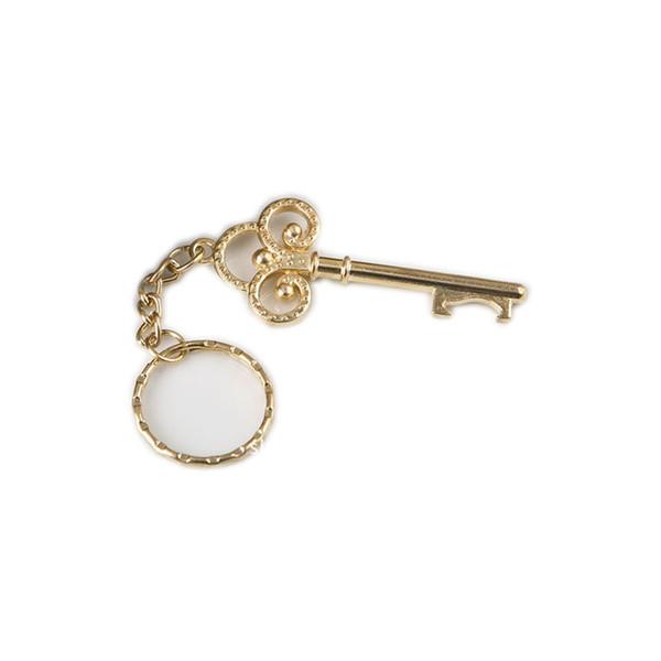 Goldener Schlüssel zu meinem Herzen Sammlung Gold Metall Schlüsselanhänger Ring Flaschenöffner begünstigt 50pcs / lot