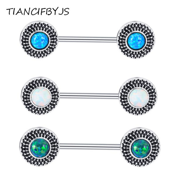 Opal Arrow Tree Nipple Barbells Stainless Piercing Nombril Nipple Ring Bars Helix Tragus Pircing Body Jewelry 20pcs
