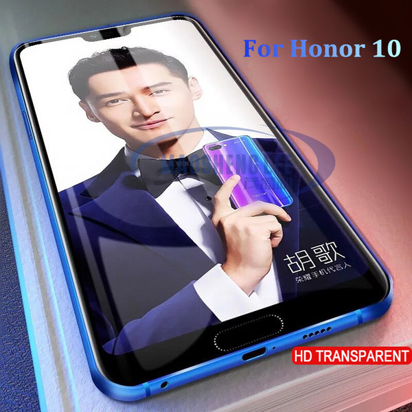2pcs/lot Full Tempered Glass For Huawei Honor 10 Screen Protector 9H Anti Blu-ray tempered glass For Huawei Honor 10 film