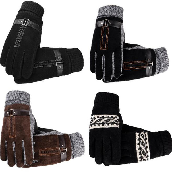 8 Styles High Quality Leather Touch Screen Gloves Men Soft Comfortable Mittens Waterproof Winter Autumn Motorcycling Driving Gloves Solid