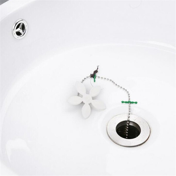 Bathroom Hair Sewer Filter Drain Cleaners Small flower floor drain with plumbing apparatus Remove hair pipe cleaning hook