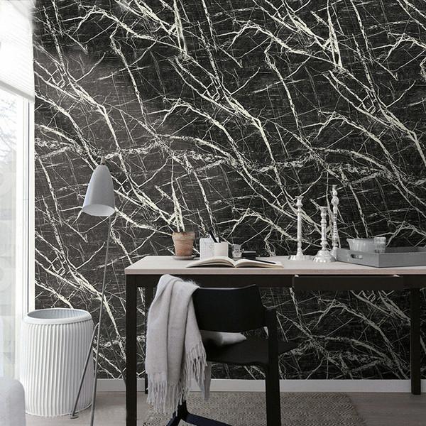 Großhandel Imitation Marmor Stein Muster PVC Wasserdichte Tapete  Wandverkleidung Rolle Korridor Wohnzimmer Hintergrund Wand Papier Home  Decor Von ...