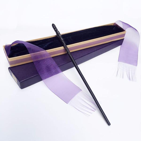 Nuevo Llega Metal / Hierro Core Ginny Weasley Magic Wand / Harry Potter Magical Wand / Elegante Ribbon Gift Box Embalaje