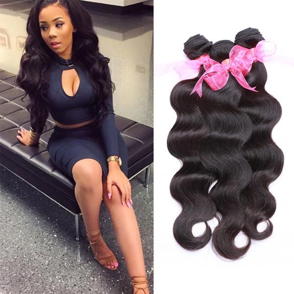 Human Hair Bundles Brazilian Body Wave 3 Bundles 8A Peruvian Virgin Hair Wet and Wavy Body Wave Hair Weave Bundles Cheap Price 300g