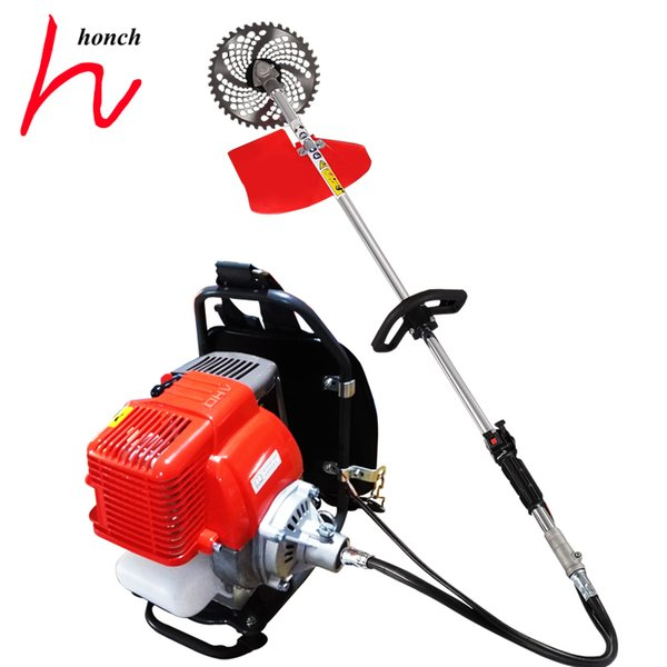 Grass trimmer 4-stroke 45.6C.C. knapsack gasoline brush cutter engine brushcutter weeder price free shipping