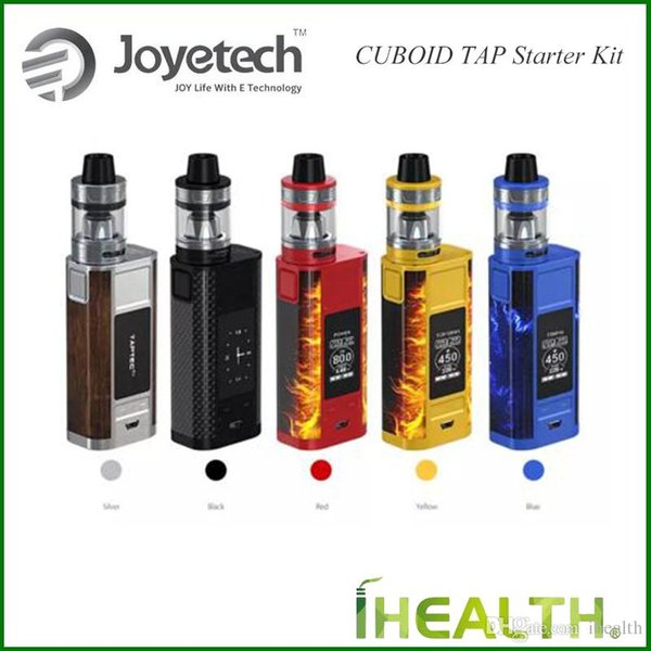 Authentic Joyetech CUBOID TAP Starter Kit 228W Quick charge system Power bank for reverse charge with 4ml ProCore Aries Tank fast shipping