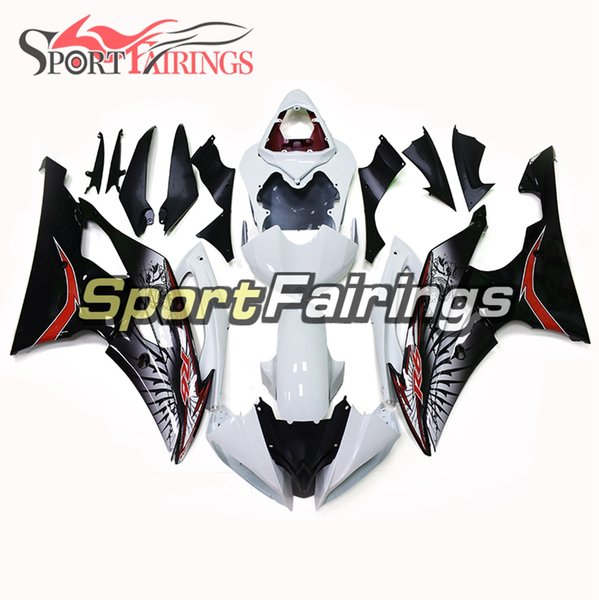 Complete Motorcycle Fairing Kit For Yamaha YZF600 R6 YZF-R6 2008 - 2016 Injection ABS Plastic Motorcycle Body Kit White Black
