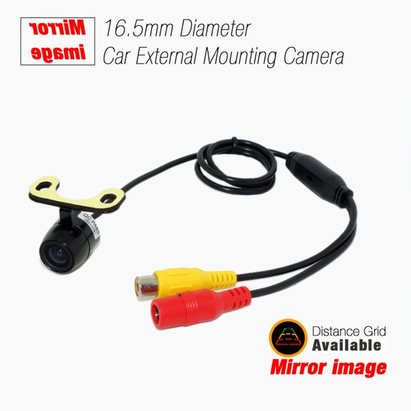 wholesale CCD 16.5mm Car Rear View Camera With 2.4 Ghz Wireless RCA Video Transmitter Receiver Kits Module #4740