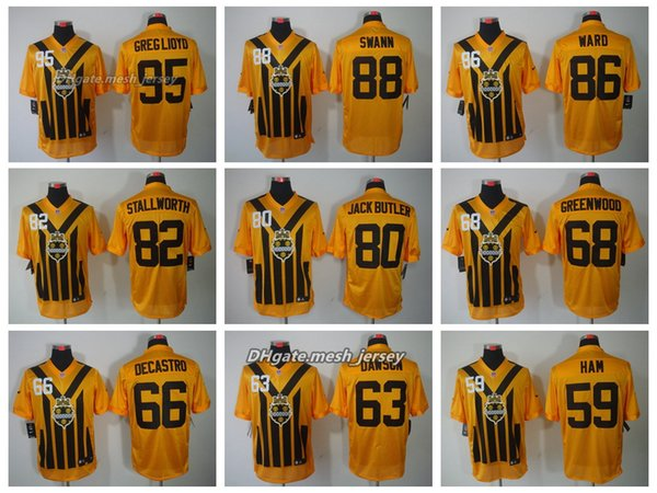 1b236761d9e Men Pittsburgh Jersey Steelers 95 Hooks 88 Swann 86 Ward 82 Stallworth 80  McGee 53 Pouncey
