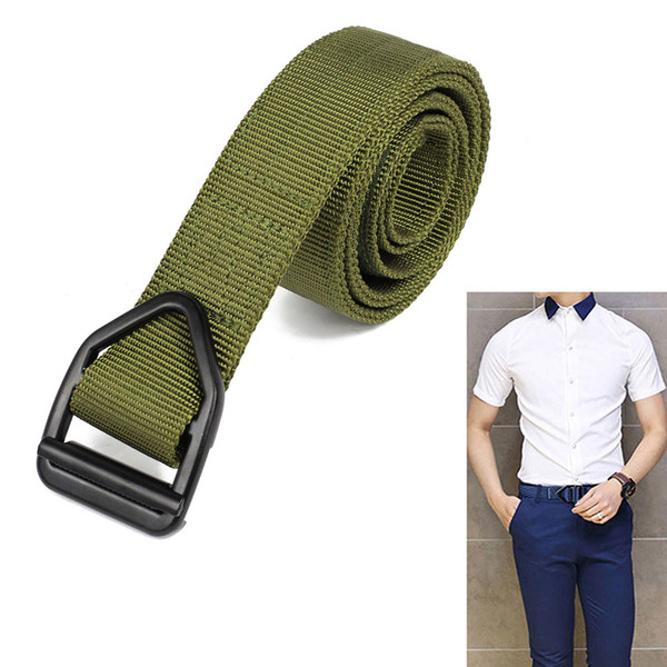 """Tactical Waist duty Belt for Heavy rescue Unisex Waist 29""""-45"""" Adjustable Nylon Training Belts with Metal Buckle for outdoor Hunting"""