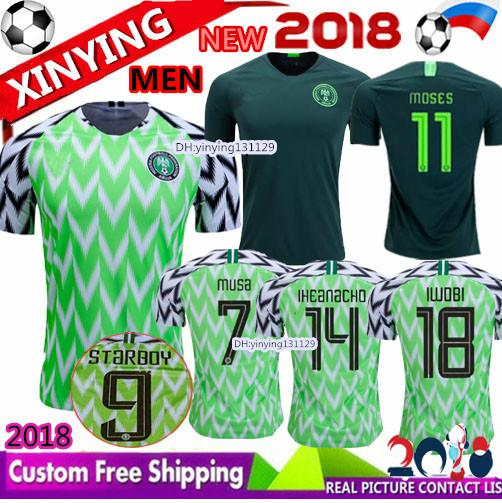 2019 1994 2018 2019 Home STARBOY MUSA IWOBI Soccer Jerseys Training Suit  STARBOY AHMED IHEANACHO SHEHU OBI Okoro Away Football Shirts From  Xinying131129 540f9ee4e