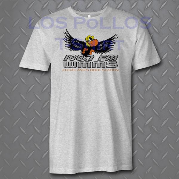 WMMS New Rock N Roll Radio Música Cleveland Camiseta Gris Los Pollos Divertido envío gratis Unisex Casual camiseta de regalo top