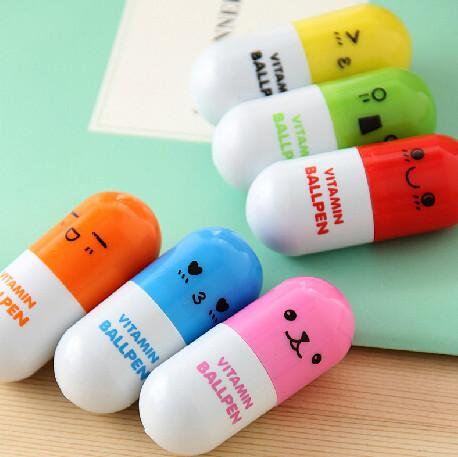 Pill Ballpoint Pen Vitamin Novelty Ballpen Ballpoint Pen Stationery Wedding Gifts For Guests Return Gifts For Kids Birthday Ideas For Wedding Favors