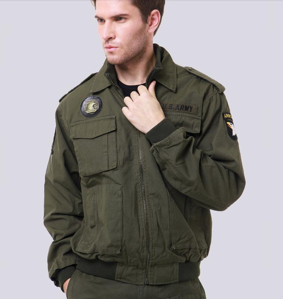 Airborne 101st Military Tactical Jackets For Men Army Fans Outdoor Eagle Embroidery Badge Army Air Force Coat