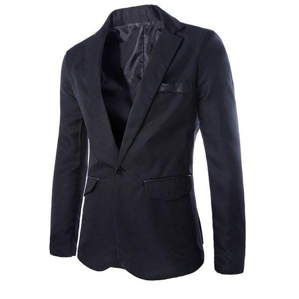 En kaliteli 2018 bahar sonbahar Cortex kenar Tek Düğme erkek elbise suit Rahat patchwork iş ceket blazer masculino
