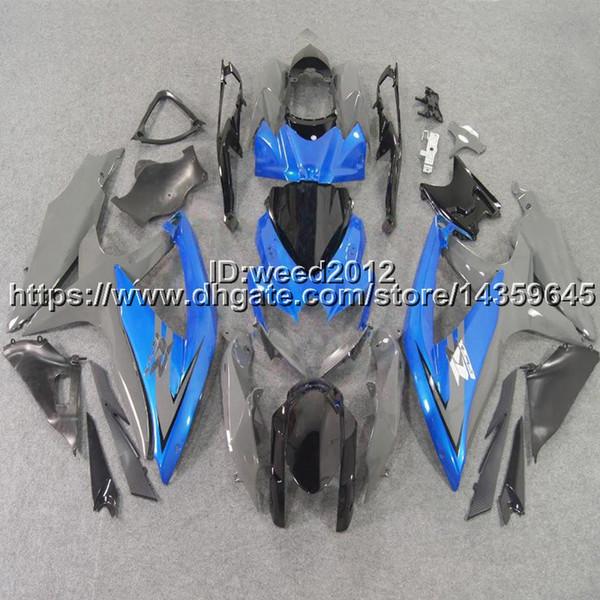 23colors + 5Gifts molde de inyección azul silvergraymotorcycle cowl para Suzuki Suzuki GSX-R600750 2008 2009 2010 GSXR600 R750 K8 ABS Fairing