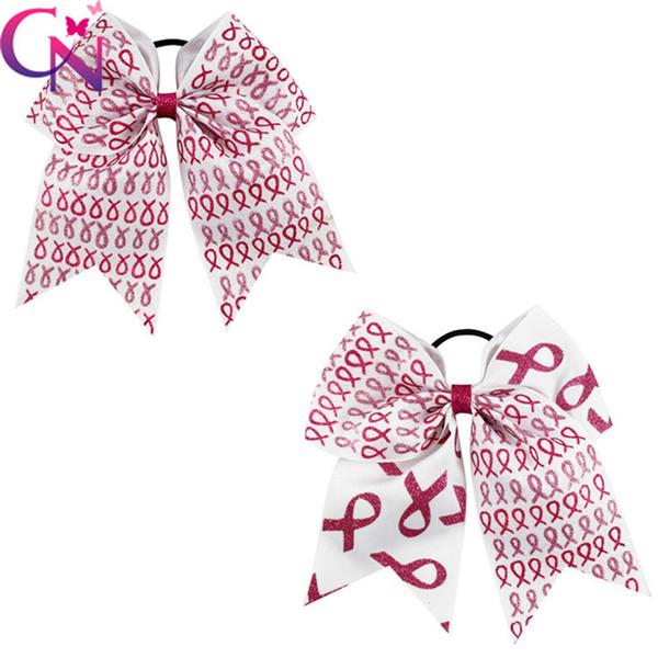 Elegant 7 inch headband Patchwork Cheer Bows Half Glitter Half Grosgrain Ribbon girl hair bows With Elastic Band DHL free shipping