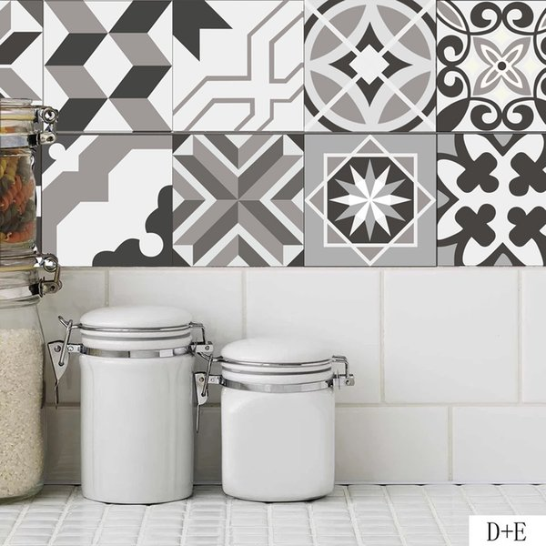 The tropical style Decal for wall 20X20cm Tile stickers home decorative stickers for bathroom Decal waterproof stickersfree shipping