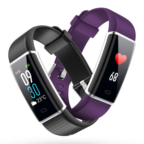 ID130C Color Screen Smart Band Activity Tracker Heart Rate Testing IP68 Waterproof Smart Bracelet Blood Pressure Measurement