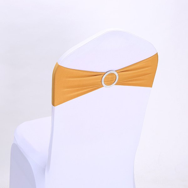 Magnificent Elastic Chair Covers Sashes Band Wedding Bow Tie Backs Props Bowknot Spandex Chairs Sash Buckles Cover Back Hostel Trim Sash For Dress Gold Sash Belt Creativecarmelina Interior Chair Design Creativecarmelinacom