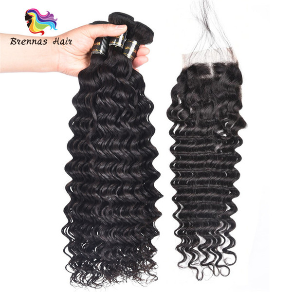 top sale deep wave 100% human real hair extension machine double weft no shedding natural black color for black women