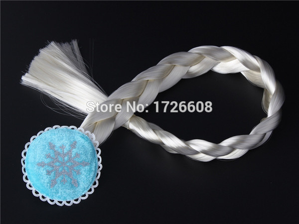 Children's Princess Hair Braid Silver White Braids Wig Light Blonde Party Costume Cosplay Wigs Dress-up Party Braiding Hair Clip