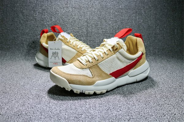 Authentic Tom Sachs Craft Mars Yard 2.0 Space Camp Running Shoes Joint Limited AA2261-100 Natural Sport Red Maple Athletic Sports Sneakers