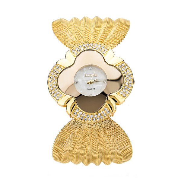 2018 New fashion gold quartz watch famous brand women clock Elegant women Watch Luxury Bracelet watch relogio feminino