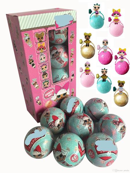 10 CM Big Beach Balls Mini Boneca Série 4 Irmãs LiL Figuras de Ação 7.5 CM Pequenas Bonecas Bola Vestir Bebê Spray de Água Bonecas Brinquedos para Caçoa o Presente