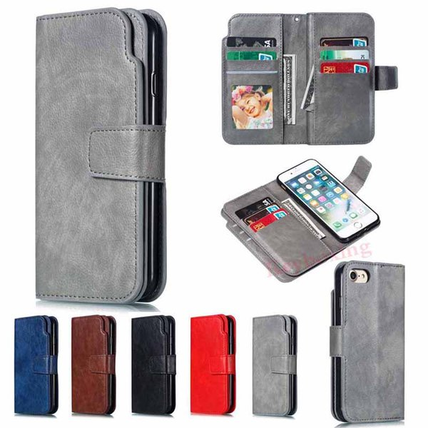 Luxury 9 Card Holder Leather Wallet Flip Phone Case Cover For Apple iPhone XS XR XS Max X 6s 6 7 8 Plus