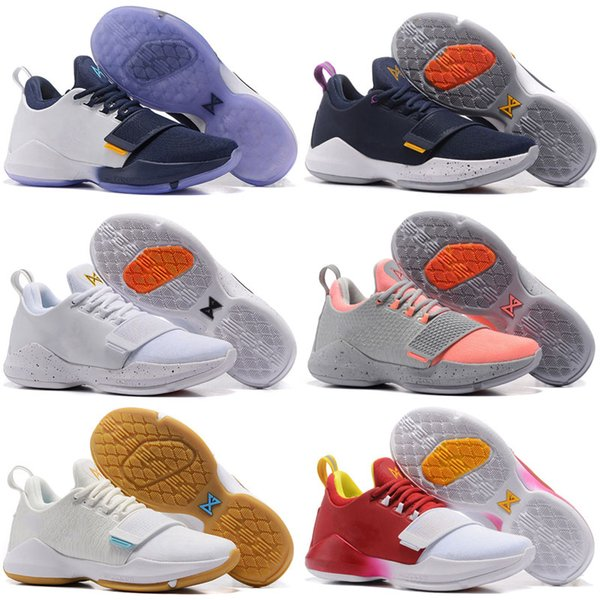 new style ecb53 56248 Paul George PG1 Men Basketball Shoes Athletics Sneakers PG 1 Los Angeles  Home Sport Outdoor Boots Size 7 12 High Quality Discount Boys Athletic  Shoes ...