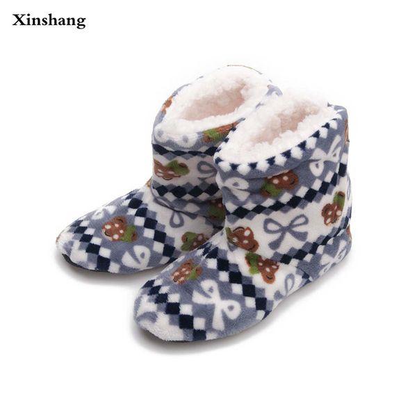 2017 Women At Home Warm Home Shoes Coral Fleece Indoor Floor Socks Winter Soft Plush Floor Slipper Best Quality Slippers