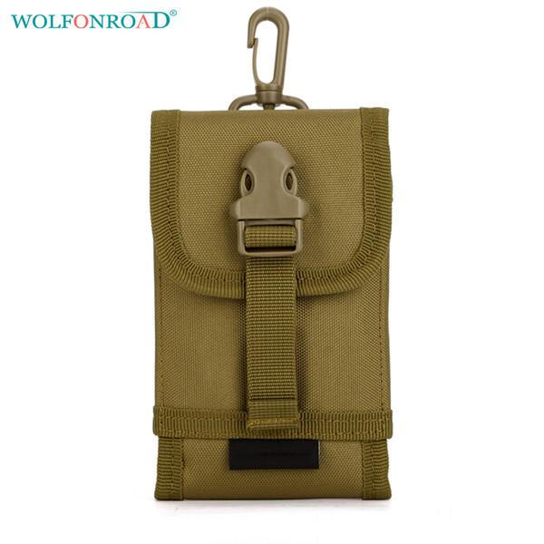 WOLFONROAD Mobile Phone Bag Pochette Tactique Pendaison Sac Paquet Imperméable Pour Hommes Molle Cell Phone Case Sacs Sacs L-SHZ-72