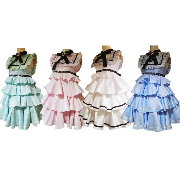 Final Fantasy XIV FF14 International service dress Cosplay Costume Outfit 4 colors can choose