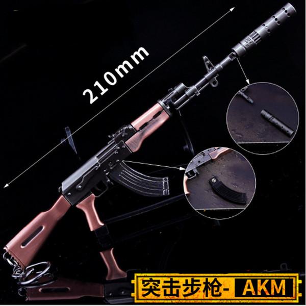Oyun PUBG SKS SCAL Kartuş Ayrılabilir Silah Modeli Yüksek Kalite Anahtarlık Oyunu Lover Of 17 CM Anahtarlık Hediyeler