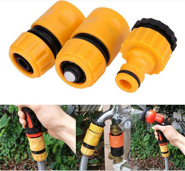 """best selling 3Pcs Fast Coupling Adapter Drip Tape Irrigation Hose Connector With 1 2"""" 3 4""""barbed Garden Water Connector Irrigation Tool Kit"""