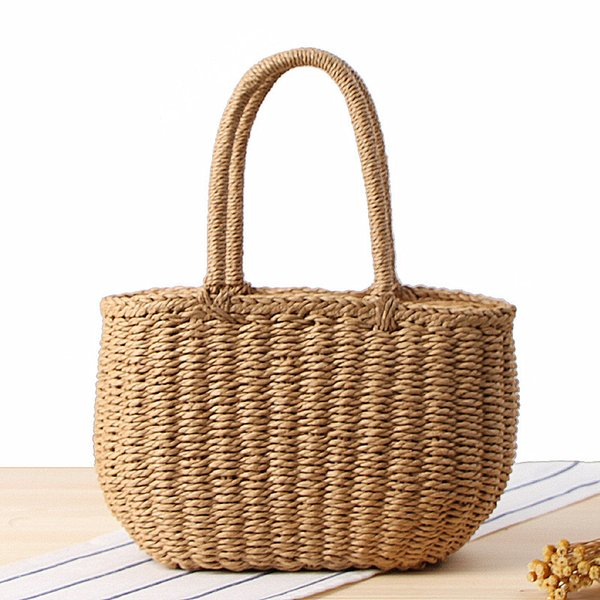 Summer Crossbody Bags For Women 2018 Luxury Handbags Women Bags Designer Famous Brand Ladies tote Beach Bag Wicker Straw Bag