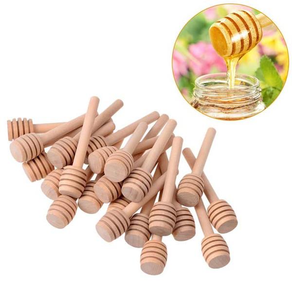 Bastone di legno 8cm bastone di miele miele dippers rifornimento del partito cucchiaio di legno bastone miele Jar Stick