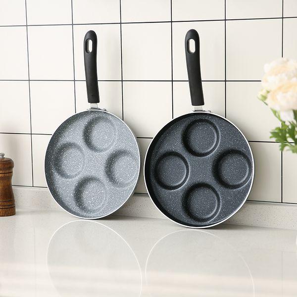 Casting Iron Pan Stone Layer Frying Pot Hamburg Bean Cake Gas Cooker 24 Cm Breakfast Fried Egg Molds Kitchen Tools Love Omelette
